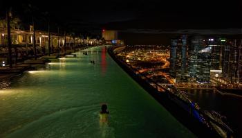 Singapore night swim