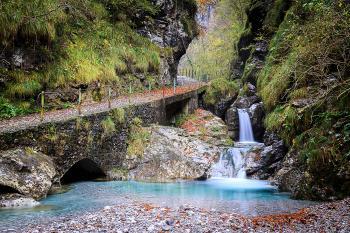 Light blue  waterfall