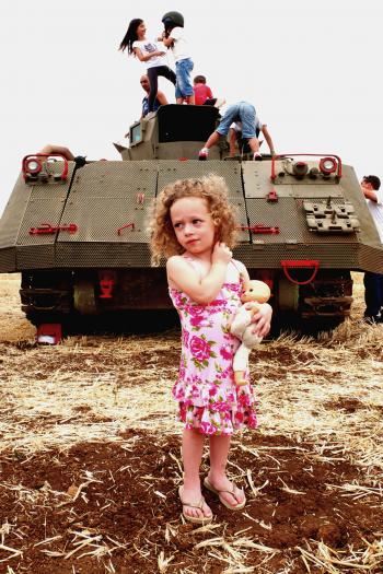 Girl and the tank