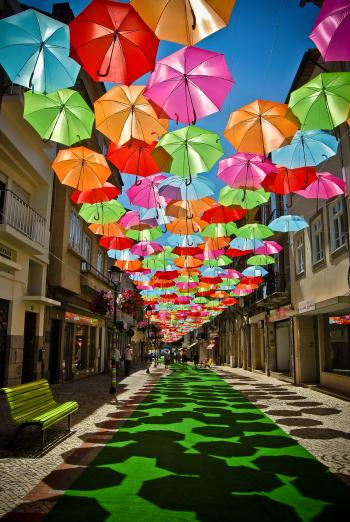 Umbrella Art in Águeda/Portugal