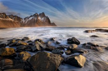 Sunrise over Stokksnes