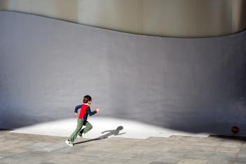 Chasing a ball