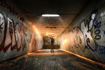 Burning tunnel