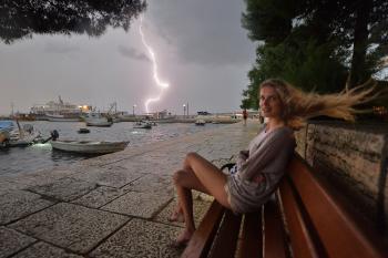 Thunder. Fazana, Croatia