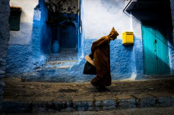 Walking in Chefchaouen