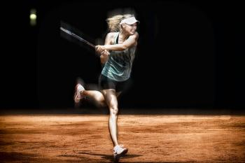 Sharapova's backhand