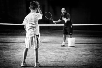 A difficult tennis lesson