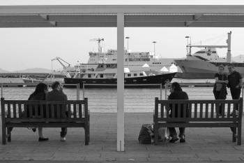 The benches of the waterfront