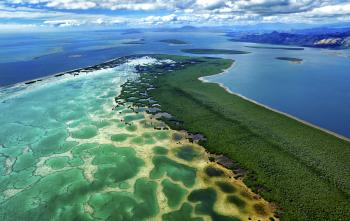 Pacific coral reefs and islands