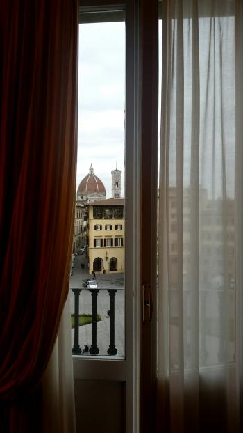 photos from the windows of a hotel room