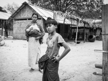 Taking care of kids in Myanmar's villages
