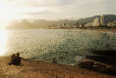 Sunset at Ipanema beach, Rio de Janeiro