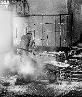 Rovato 2011, Costruttori di strade, il taglio del porfido