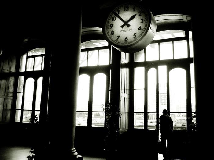 Nella vecchia stazione dei treni
