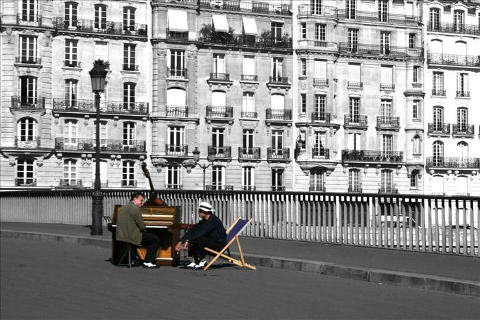 parigi _ musicisti di strada